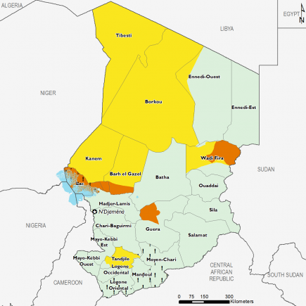 Chad August 2017 Food Security Projections for August to September