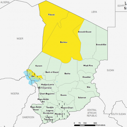 Chad August 2017 Food Security Projections for October to January