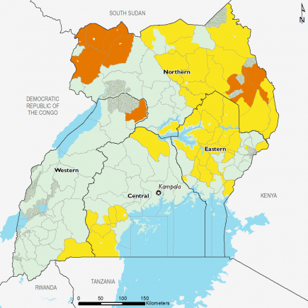Uganda February 2017 Food Security Projections for February to May
