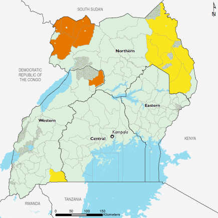 Uganda February 2017 Food Security Projections for June to September