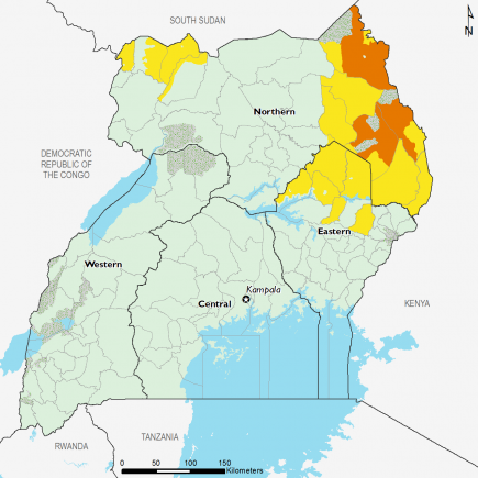 Uganda July 2016 Food Security Projections for July to September