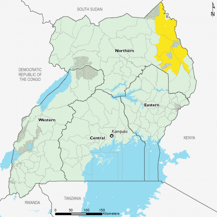 Uganda July 2016 Food Security Projections for October to January