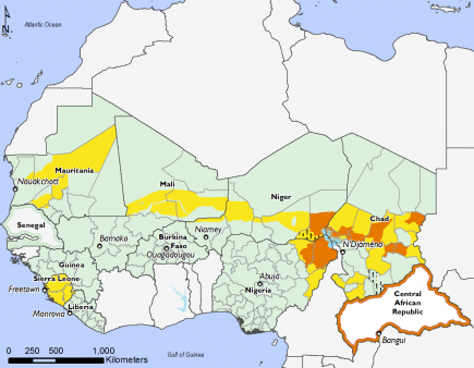 West Africa, Food Security, February to May 2016