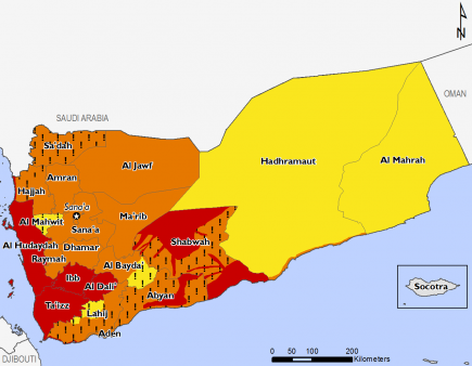 Yemen April 2016 Food Security Projections for April to May