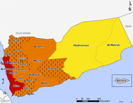 Yemen December 2016 Food Security Projections for December to January