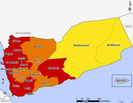 Yemen January 2017 Food Security Projections for February to May