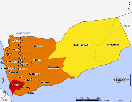 Yemen August 2016 Food Security Projections for October to January