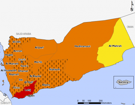 Yemen August 2017 Food Security Projections for August to September