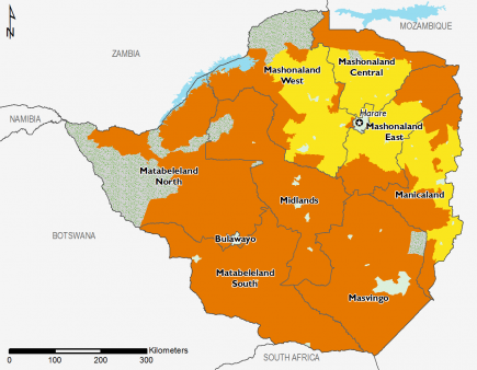 Zimbabwe April 2016 Food Security Projections for April to May