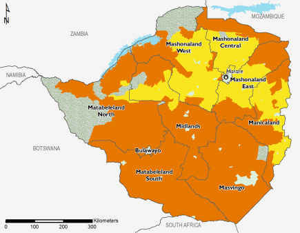 Zimbabwe April 2016 Food Security Projections for June to September