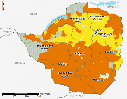 Zimbabwe February 2016 Food Security Projections for February to May