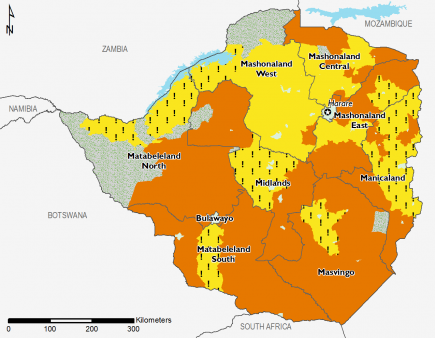 Zimbabwe December 2016 Food Security Projections for December to January