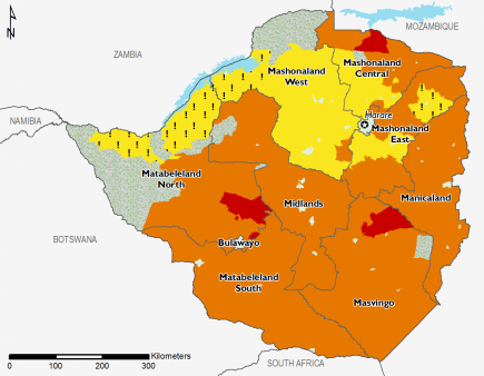 Zimbabwe January 2017 Food Security Projections for February to May