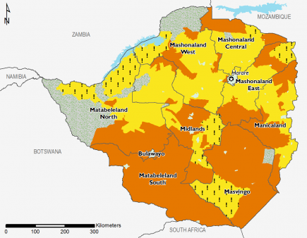Zimbabwe August 2016 Food Security Projections for August to September