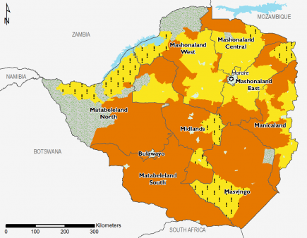 Zimbabwe August 2016 Food Security Projections for October to January