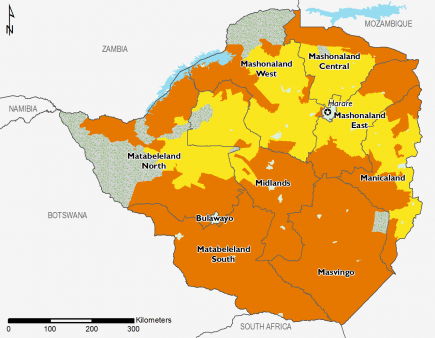 Zimbabwe June 2016 Food Security Projections for June to September