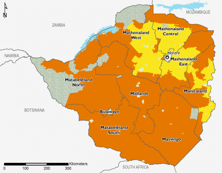 Zimbabwe June 2016 Food Security Projections for October to January