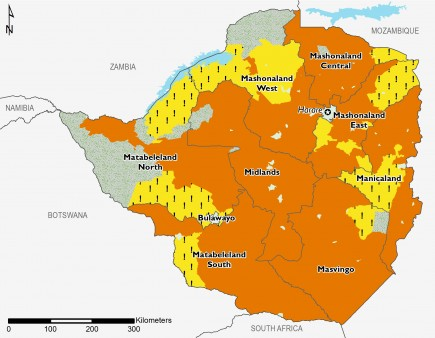 Zimbabwe project acute food insecurity, May 2019.