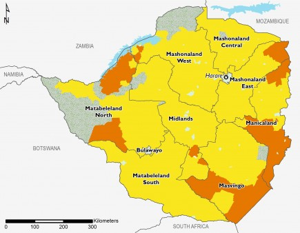 Zimbabwe project acute food insecurity, June-September 2019.