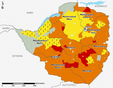 Zimbabwe October 2016 Food Security Projections for February to May