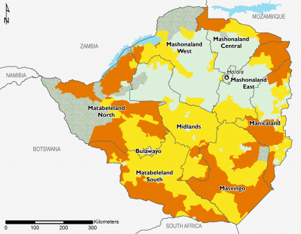 Projected food security outcomes, June to September 2018