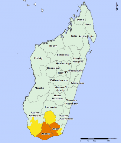 Madagascar April 2016 Food Security Projections for April to May