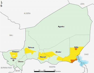 Niger August 2017 Food Security Projections for August to September