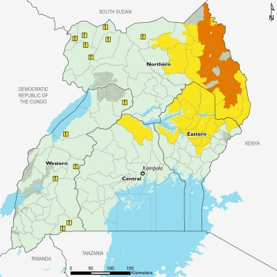 Projected food security outcomes, April to May 2019