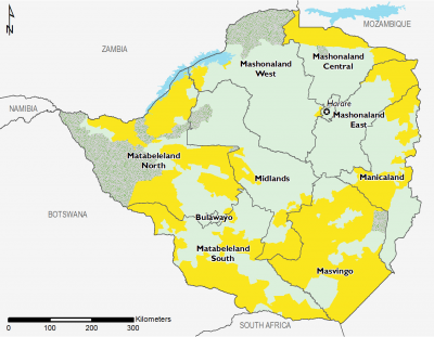 Zimbabwe August 2017 Food Security Projections for August to September