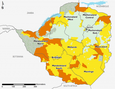 Zimbabwe August 2017 Food Security Projections for October to January