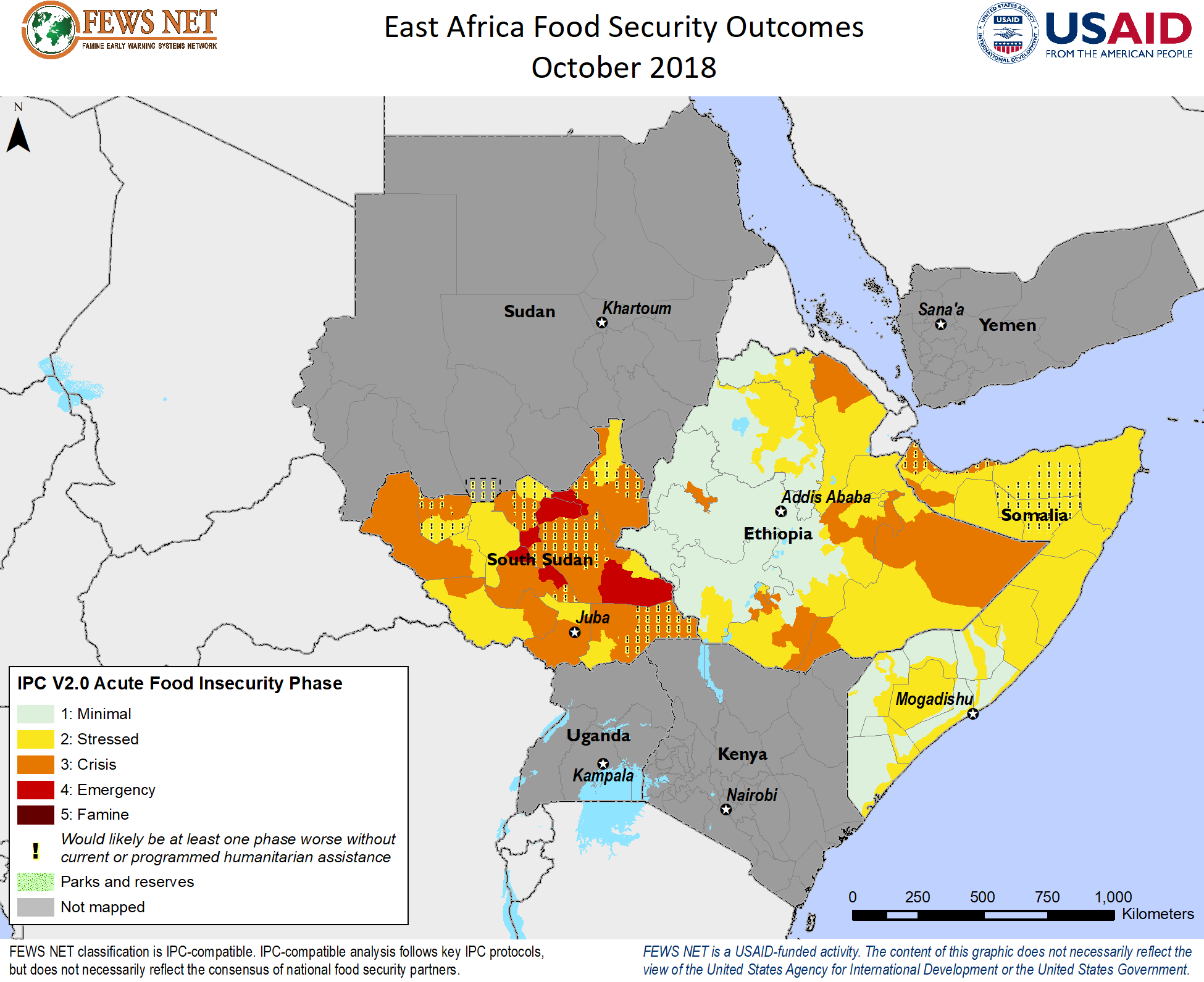 East Africa Food Security Classification (October 2018 - May 2019