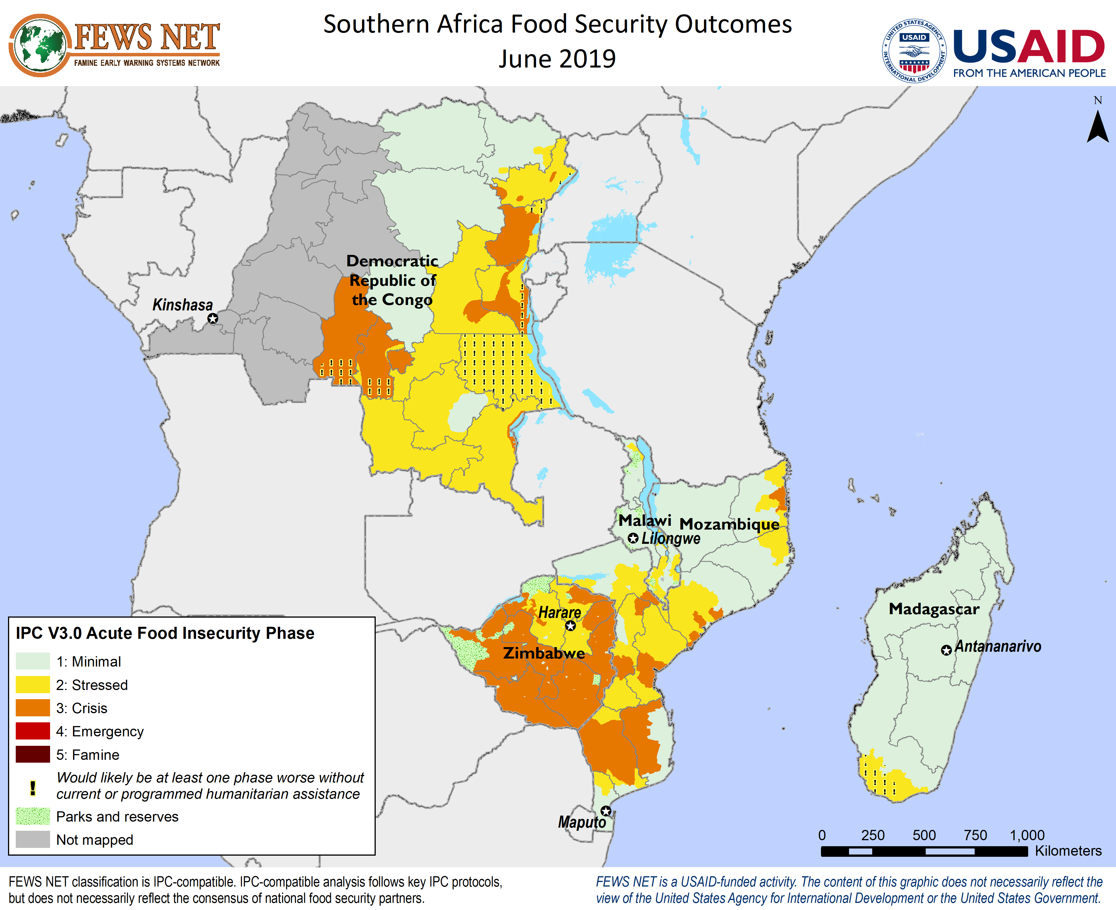 Southern Africa Food Security Classification (June 2019