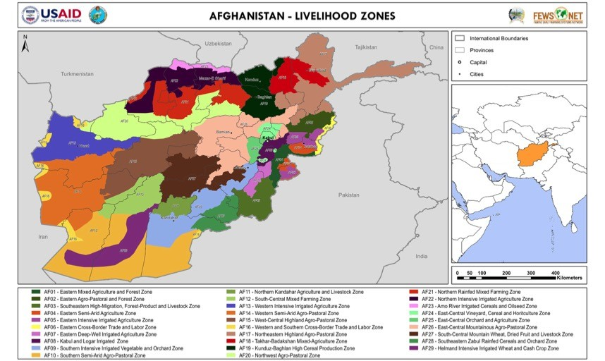 Afghanistan - Livelihood Zone Map: Wed, 2011-03-16 | Famine Early ...