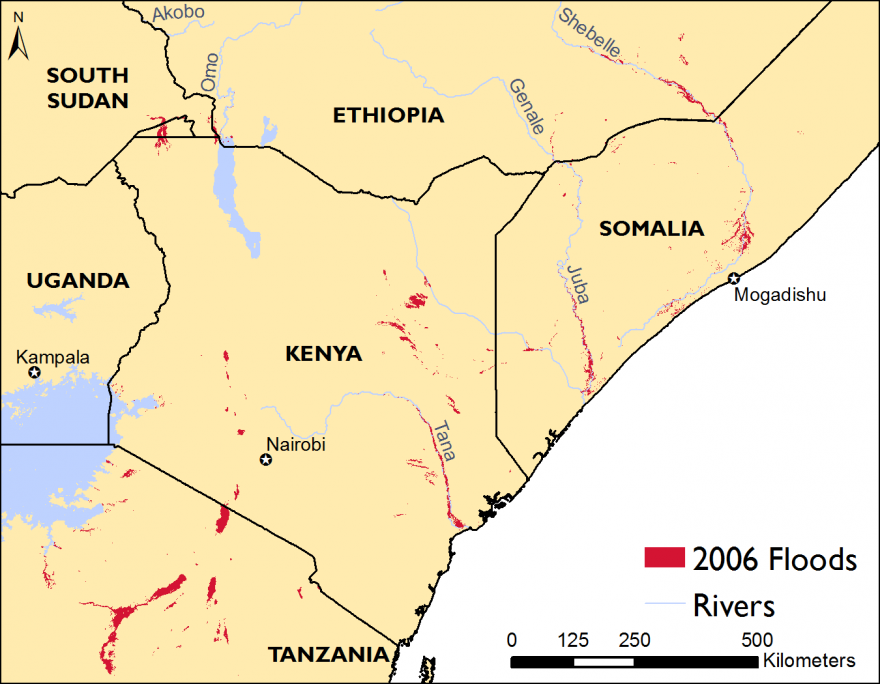 East Africa Alert Famine Early Warning Systems Network - Main rivers in africa
