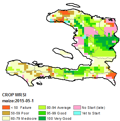 Figure 3. Current Water Resources Satisfaction Index, May 1-10, 2015.