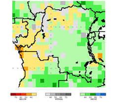 Figure 3. Projected rainfall anomalies for the period from March through May 2018