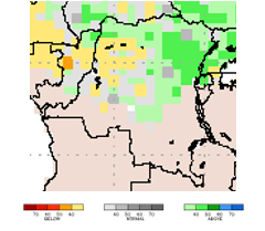 Figure 4. Projected rainfall anomalies for the period from June through August 2018