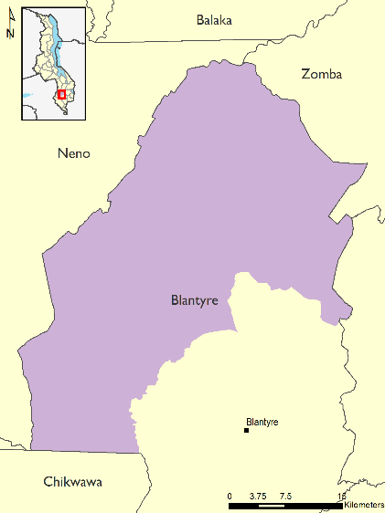 Figure 2.  Reference map for Blantyre District