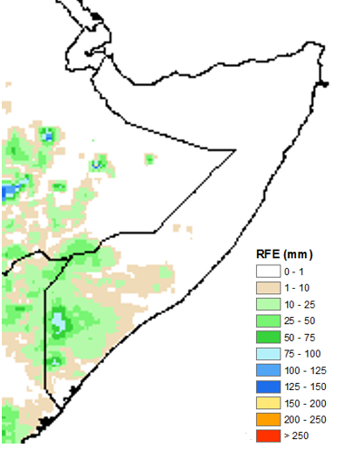Figure1 5 Little or no rainfall received in most parts of Somalia