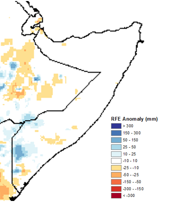 Figure2 5 Little or no rainfall received in most parts of Somalia