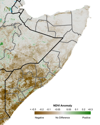 Figure3 6 Little or no rainfall received in most parts of Somalia