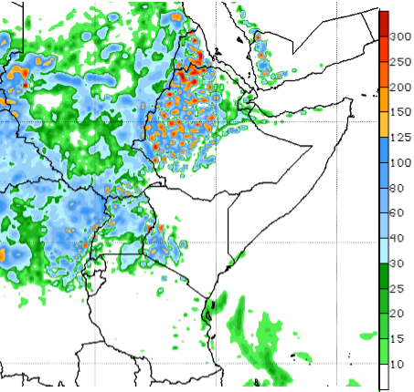 Seasonal rains are forecast to intensify over the northern sector of the region for the next one to two weeks.