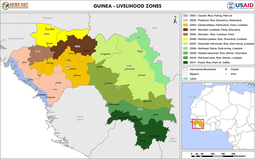 Guinea Livelihood Zone Map Fri 20130628 Famine Early Warning