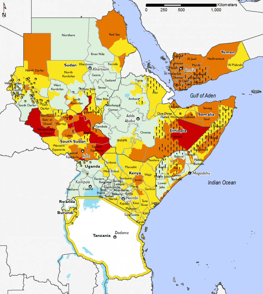 East Africa Famine Early Warning Systems Network - Where is burundi