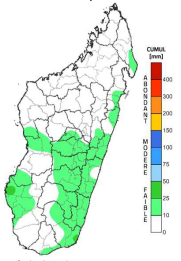 Map showing Cumulative rainfall from September 10-16, 2018. Some rainfall recorded throughout the country, though minimal.
