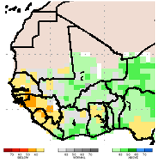 NMME June to August 2018: rains below average in the  Senegal River Valley