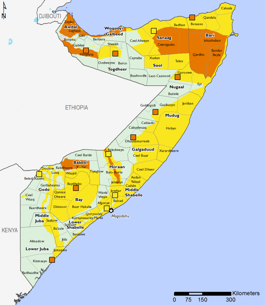 Somalia - Food Security Outlook: Wed, 2016-06-08 to Sun, 2017-01-01