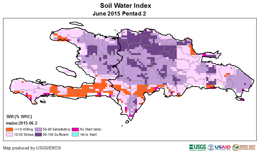 Figure 1. Soil Water Index, June 6-10, 2015