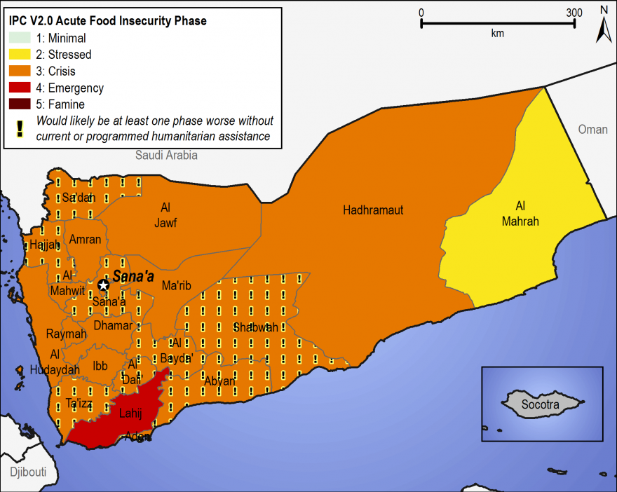 Yemen - Food Security Outlook: Thu, 2017-06-01 to Wed, 2018-01-31