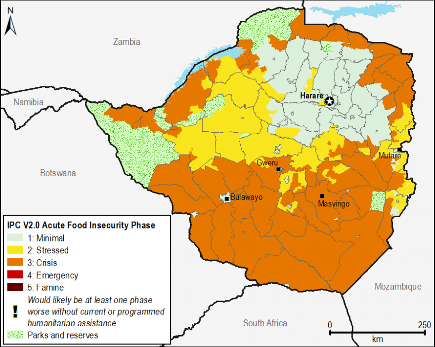 Current acute food security outcomes, June 2016.